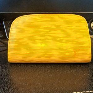 Louis Vuitton Yellow Epi Pouch Vintage